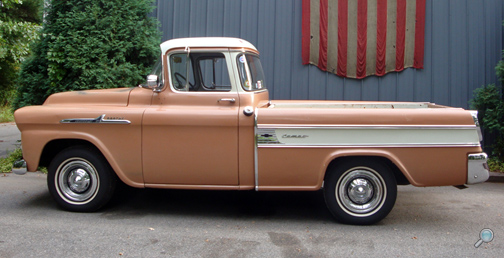 1958 Chevrolet Cameo Pickup, restored vintage Chevy pickup