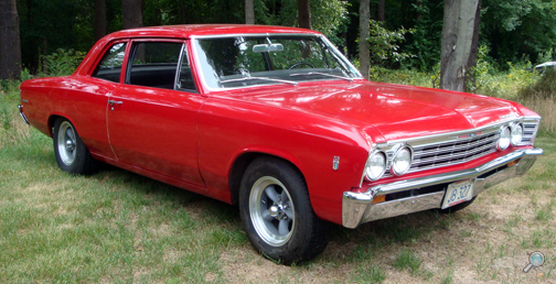 "1967 Chevelle ""300"" 2-Door Sedan, restored classic Chevy show car"